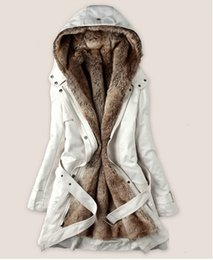 Wholesale Ling Winter Coats - 2016 Fashion New Hooded Women's Fur Winter With Faux Fur Ling Long Coat Outerwear. Hot sell!