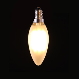 Wholesale Frosted Light Bulbs - 4W 6W Retro LED Filament Bulb C35 Frosted Candle Style E12 E14 Base Warm White 2700K Chandelier Household Lights Dimmable