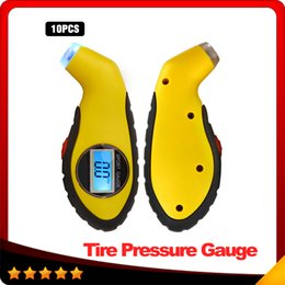 Wholesale Tire Pressure Gauge Free Shipping - Digital LCD Car Tire Tyre Air Pressure Gauge Meter Manometer Barometers Tester Tool For Auto Car Motorcycle 10pcs lot free shipping
