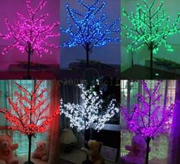 Wholesale Meters Outdoor Lights - LED waterproof outdoor landscape garden peach tree lamp simulation 1.5 meters 480 lights LED cherry blossom tree lights garden decoration MY