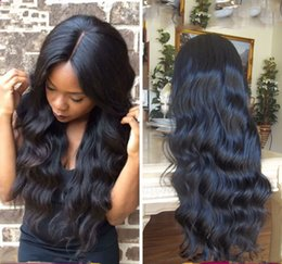 Wholesale transparent lace top - Brazilian Human Hair Silk Base Full Lace Wigs Natural Color Body Wave 4*4 Silk Top Lace Front Wig Natural Hairline Silk Top Wig
