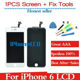 Wholesale Iphone Digitizer Pcs - 1 one PCS LCD Display & Touch Screen Digitizer & Tools Full Assembly for iPhone 6 4.7inch lcd Replacement Repair Black&White free shipping