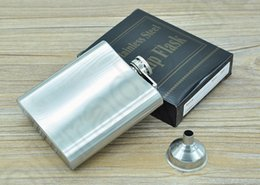 Wholesale 6oz Flask Funnel - 6oz Hip Flask Drink Bottle Liquor Whisky Alcohol Portable Stainless Steel Screw Cap with Without Funnel OOA642