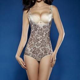 Wholesale Tummy Shaper Full Body - Wholesale-Women Slimming Tummy Under bust Shape wear Shaper Corset Full Body Control Bodysuit Shapers
