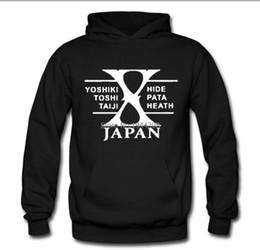 Wholesale winter coats japan - Wholesale-8 Colors new arrived winter Autumn Mens Rock Band X-JAPAN sweatshirt Heavy Metal Music X Japan Pullover coat