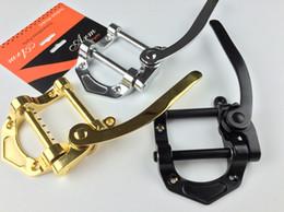 Wholesale Black Fender Guitar - LP tremolo electric guitar vibrato system bridge small joystick tailpiece Gold Black Silver