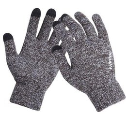 Wholesale Chinese Wear For Women - Womens Touch Screen Gloves Wear Anti-slip Knitted Full-finger Men Mittens Driving Glove for Men Women Winter iWarm Gloves High Quality