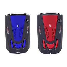Wholesale Laser For Speed - 360 Degree Car Speed Radar Detector Voice Alert Detection Shaped Safety for Car GPS Laser LED Free Shipping