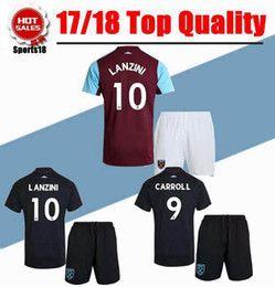 Wholesale Red Ham - Thai quality 2017 West Ham United away soccer jerseys 2017 2018 FEGHOULI CARROLL SAKHO AYEW West Ham United adult kit home shirts