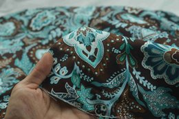 Wholesale Cotton Damask - 1 meter plain VB fabric celadon rhyme 100% cotton fabric printed tissues patchwork sewing tilda cloth CR-130