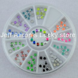 Wholesale Cell Phone Nail Art Decorations - 3MM Alloy Nail Art Glitter Rhinestone Rivets Wheel For Nail Tips Decoration Tool Cell Phone Accessories