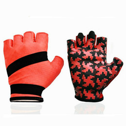 Wholesale Hockey Gloves For Skiing - Half Finger Gloves For Mountain Bike Fitness Bodybuilding Slip-Resistant Outdoor Sports Semi-Finger Sports Unisex Cycling Enthusiasts Gloves