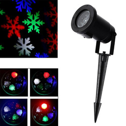 Wholesale Outdoor Snowflakes - New Waterproof Moving Snow Laser Projector Lamps Snowflake LED Stage Light For Christmas Party Landscape Light Garden Lamp Outdoor