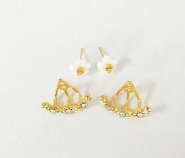 Wholesale Earring Girls Allergy - Little Daisy Earrings Anti Allergy Jewelry Earrings 925 Sterling Silver Daisy Flower Stud Earrings For Girls