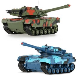 Wholesale Remote For Flash - 2 pcs RC Tanks 333-TK11A 1:24 Scale Two Infrared Electronic Remote Control Battle Fighting Tank Toys for Kids Children Gifts