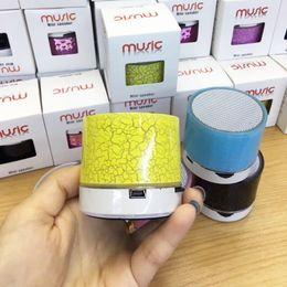Wholesale Wholesale Cheap Mini Speakers - Cheap Speakers Bluetooth Mini Speaker A9 Led Colored Flash Wireless Stereo Speaker FM Radio TF Card USB For Mobile Phone Computer Speaker