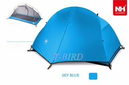 Wholesale Ultralight Person Tent - Wholesale-1.5KG naturehike ultralight tent 1 person outdoor camping hiking aluminum waterproof Single tents