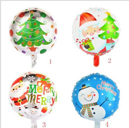 Wholesale red helium balloons - 4 style Christmas Balloons 18'' Indoor Outdoor Decoration Santa Claus Snowman Elk Helium Balloons Festive Party Supplies