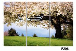 Peinture photo verte en Ligne-Luxry 3 pièces art toile à l'huile romantique wall art arbre photo toile peinture vert arbre peinture Grand mur photos pour la vie