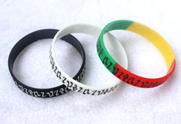 Wholesale Customize Rubber Bracelets - 100PCS Free Shipping fashion beautiful musical note Customized Logo Rubber Silicone Wristband For Gifts