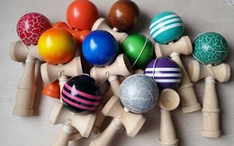 Wholesale Kendama Colors - Kendama Ball Japanese Traditional Wood Game 15 Colors 18.5cm Toy Education Gifts Hot SaleActivity Gifts 10pcs LOT Jokes Funny Toys