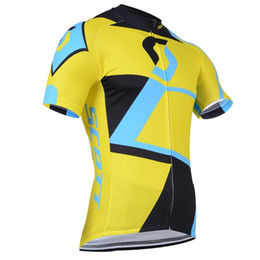 Wholesale yellow scott bicycles - 2017 NEW Scott Cycling jerseys Men short style bike Bicycle Clothing Set Pro Team Sport mtb Racing Riding clothes 8 styles