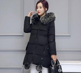 Wholesale Maternity Coat Fur - Maternity Winter Coats 2017 new Faux Fur Collar Hooded Down Parka Maternity Pregnant Thicken Warm Outwear Women Jackets & Coats