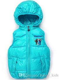 Wholesale 5t Snowsuit - Children's Vest Baby Clothes Christmas Kids Clothes Fashion 2-7 Ages Unisex Frozen Princess Snowsuit Girls Kids Coat Jacket Outwears Ro