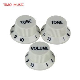 Wholesale Replacement Guitar Knobs - Speed Knobs Guitar Parts 1 Volume 2 Tone 1V2T Speed Knobs Control Buttons Replacement Guitar Parts Yellow