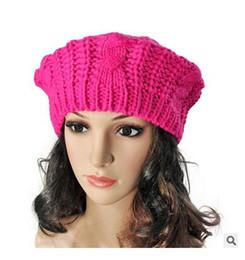 Corée Automne Hiver Mode Big Buds Style Globose Twist Tricoté Chapeau Casquette Polo Laine Béret Mode Bérets Chapeaux Casquettes ? partir de fabricateur