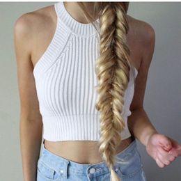 Wholesale Crop Blouse Wholesaler - Wholesale-New Sexy Women's Boho Tank Tops Bustier Bra Vest Crop Top Bralette Shirt Blouse