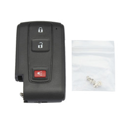 Wholesale Prius Fob Remote - Black 3 Buttons Replacement Shell Remote Key Case Fob with Small Key for 2004-2009 Toyota Prius CIA_40W