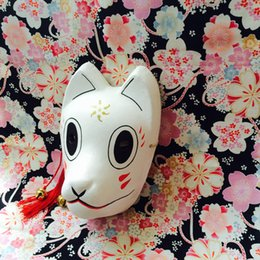 Wholesale Mori Wedding - Full Face Hand-Painted Hotarubi no Mori e Cosplay Fox Masks Halloween Cartoon Character Costumes