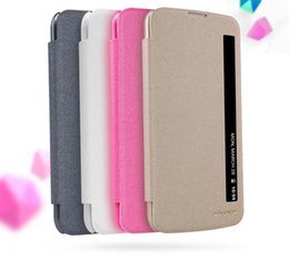 Wholesale nillkin case for lg - New Nillkin For LG K10 LTE K420N K430 K430ds F670 Case Hight Quality Smart Leather Phone Case Sleep Function For LG K10
