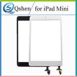 Wholesale Ipad Mini Digitizer Flex - For iPad mini 1 mini 2 Touch Screen Panel Digitizer Complete with IC & Home Button Flex Cable