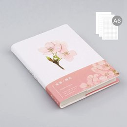 Wholesale Note Book Flower - Wholesale- Note For Flowers Theme Creative Softcover A6 Journal Book 80 Sheets Blank+Squared+Lined Paper DIY Diary Planners Gift