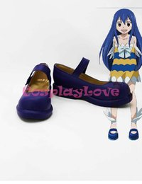 Wholesale Fairy Costume Shoes - Wholesale-Custom Made Japanese Anime Fairy Tail Wendy Marvell Cosplay Boots Shoes For Christmas Halloween Festival Birthday CosplayLove