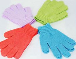 Wholesale Cleaning Towel Price - Factory price 500 Pcs Exfoliating Bath Glove Magic fingers bath gloves Bath gloves scrub and wash towel chamfer bath gloves 1771
