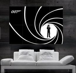 Wholesale Bond Roll - James Bond 007 black Poster print wall art 8 parts giant huge Poster print wall art free shipping NO9- 145