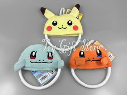 Wholesale Pikachu Charmander Squirtle Plush Cloth Dolls Toy Hanging Towel Rack Towel Rings quot