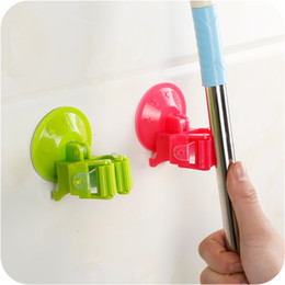 Wholesale Suction Cup Sticker - Multi Functional Strong Suction Cup Mop Sweeper Hanger Mop Adhensive Sticker Seamless Non-nail Sucker Hook Bathroom Accesspries