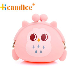 Wholesale Owl Retro Bag - Wholesale-Brand new fashion Cute Hasp Coin Purse wallets Mini bag Cheap Retro Owl Silicone Jelly Small Money Bags