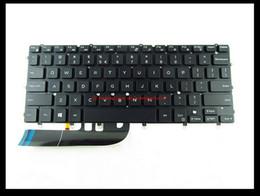 Wholesale Nsk Original - original For Dell XPS 13 9343 9350 N7547 N7548 laptop US Backlit Keyboard without Frame DKDXH 0DKDXH NSK-LS0BW