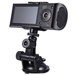 Автомобильный видеорегистратор dual gps онлайн-автомобильный видеорегистратор HD камера автомобиля Dvr GPS рекордер двойной объектив видеокамеры тире Cam с задней 2 вид автомобиля приборной панели ИК LED ночного видения бесплатная доставка