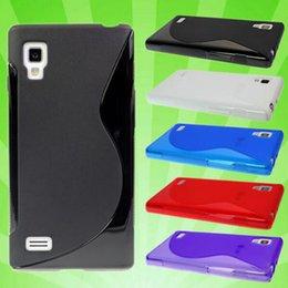 Wholesale Lg Optimus L3 Blue - Ultra Thin S Line Soft Plastic Matte Silicone Soft Case Cover For LG Optimus L1 L3 L4 L7 L9 P760