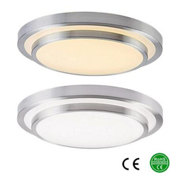 Wholesale Led Lights 15 - LED ceiling lights 350mm aluminum + Acryl High brightness 110v 220-240v, Warm white Cool white,3 color , Dimmable color Lamp Free Shipping