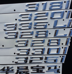 Wholesale Bmw Letters - BMW Chinese number Letter Rear Silver ABS Chorm Sticker for X1 X4 X5 X6 GT 3 5 class