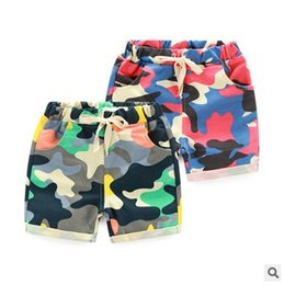 Wholesale Kids Denim Print Shorts - baby boy clothes 2016 New Fashion Camo Printed Kids Shorts Korean Fashion Summer Print Children Short Pants Boys Casaul Shorts 6334