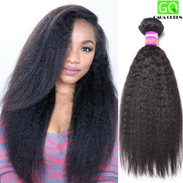 Wholesale New Yaki Hair - New Arrival Yaki Straight Hair Peruvian Virgin Hair Straight Coarse Yaki Mink Peruvian Remy Human Hair Weave 8A Great Quality Thick Hair