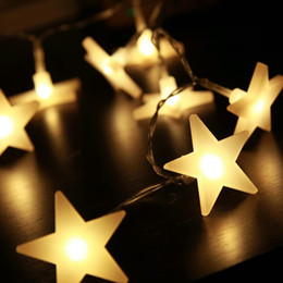Wholesale Small Led Star Lights - Manufacturers wholesale supply LED star light string five-pointed battery lamp 3 meters 20L Spring Festival festive holiday decoration small